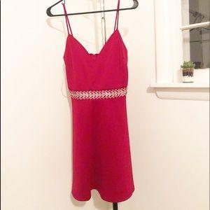 RED JEWELED DRESS